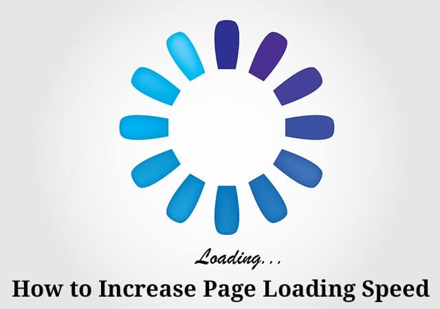 How to increase Page loading speed